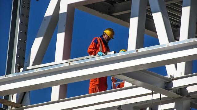 w pracy na budowie